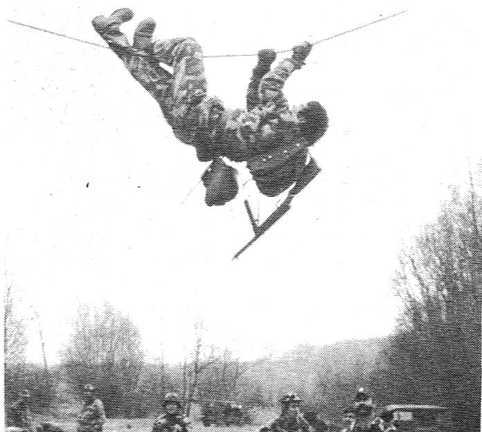 Kommando Nr.1.Übung am Seil